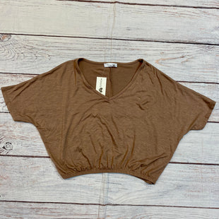 Primary Photo - BRAND: MADY & NELL STYLE: TOP SHORT SLEEVE COLOR: BROWN SIZE: S SKU: 217-217182-8501