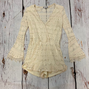 Primary Photo - BRAND: IRIS STYLE: DRESS SHORT LONG SLEEVE COLOR: CREAM SIZE: M OTHER INFO: LACE ROMPER SKU: 217-217104-36546