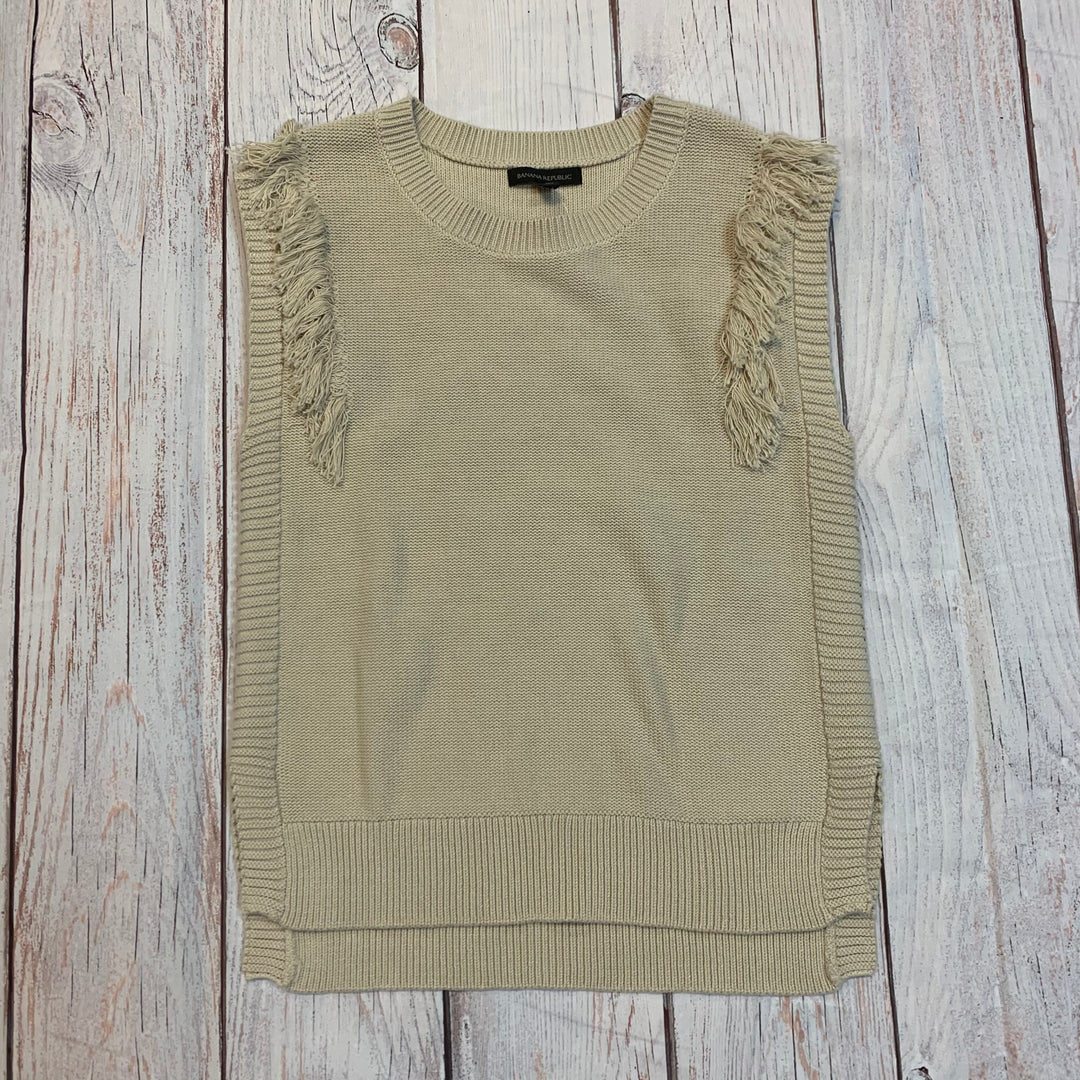 Primary Photo - BRAND: BANANA REPUBLIC <BR>STYLE: TOP SLEEVELESS <BR>COLOR: BEIGE <BR>SIZE: M <BR>OTHER INFO: NEW! SWEATER VEST <BR>SKU: 217-217182-4318