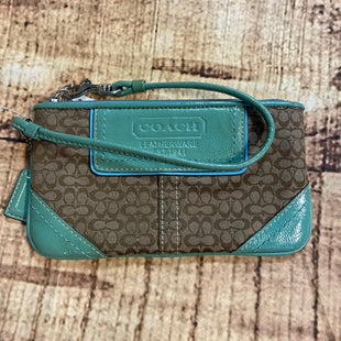 Primary Photo - BRAND: COACH STYLE: WRISTLET COLOR: MONOGRAM OTHER INFO: GREEN SKU: 217-217155-4184