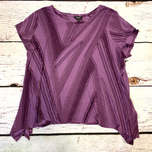 Primary Photo - BRAND: SIMPLY VERA STYLE: TOP SHORT SLEEVE COLOR: PURPLE SIZE: 2X OTHER INFO: NEW! SKU: 178-178199-1268