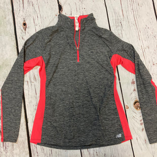 Primary Photo - BRAND: NEW BALANCE STYLE: ATHLETIC JACKET COLOR: GREY SIZE: L OTHER INFO: GREY/NEON PINK SKU: 217-217196-692