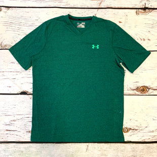 Primary Photo - BRAND: UNDER ARMOUR STYLE: ATHLETIC TOP SHORT SLEEVE COLOR: GREEN SIZE: M SKU: 217-217193-758