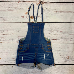 Primary Photo - BRAND:    CLOTHES MENTOR STYLE: DRESS SHORT SLEEVELESS COLOR: DENIM SIZE: M OTHER INFO: WAX JEAN - OVERALL SHORT SKU: 257-257100-2526