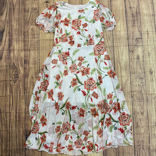 Primary Photo - BRAND: ENFOCUS STYLE: DRESS LONG SHORT SLEEVE COLOR: WHITE SIZE: 14 OTHER INFO: RED GREEN FLORAL SKU: 217-217167-1294
