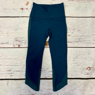 Primary Photo - BRAND: LULULEMON STYLE: ATHLETIC CAPRIS COLOR: TEAL SIZE: 2 SKU: 217-217196-547