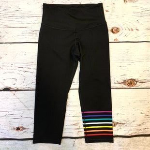 Primary Photo - BRAND: OLD NAVY STYLE: ATHLETIC CAPRIS COLOR: BLACK SIZE: M OTHER INFO: RAINBOW STRIPES SKU: 217-217193-732