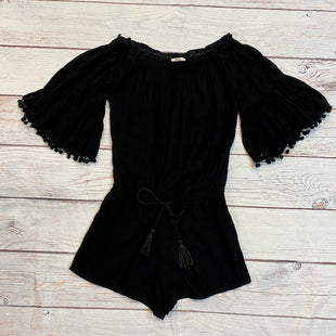 Primary Photo - BRAND: ANTHROPOLOGIE STYLE: DRESS SHORT SHORT SLEEVE COLOR: BLACK SIZE: S OTHER INFO: ROMPER LILKA TASSELS SKU: 217-217193-129