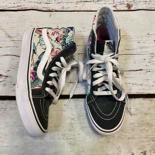 Primary Photo - BRAND: VANS STYLE: SHOES ATHLETIC COLOR: FLORAL SIZE: 7 OTHER INFO: HI TOP/ CHARCOAL WHITE BLUE PINK SKU: 217-217104-39190