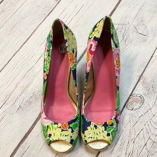 Primary Photo - BRAND: LILLY PULITZER STYLE: SANDALS HIGH COLOR: FLORAL SIZE: 8.5 OTHER INFO: BLU/GRN/PNK SKU: 217-217144-9781