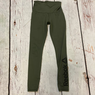 Primary Photo - BRAND: REEBOK STYLE: ATHLETIC CAPRIS COLOR: GREEN SIZE: S OTHER INFO: BLACK LOGO LEG SKU: 217-217104-39832