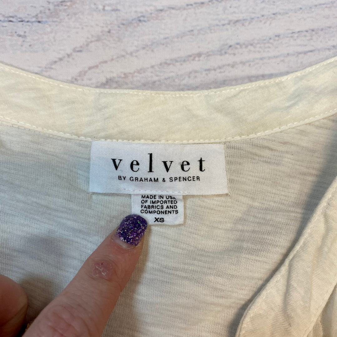 Photo #2 - BRAND: VELVET <BR>STYLE: TOP SHORT SLEEVE <BR>COLOR: CREAM <BR>SIZE: XS <BR>SKU: 217-21791-25759