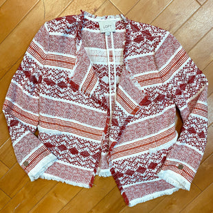 Primary Photo - BRAND: LOFT STYLE: JACKET OUTDOOR COLOR: WHITE RED SIZE: 2 SKU: 217-217182-771