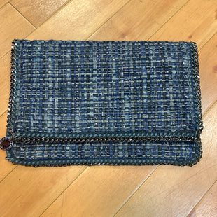 Primary Photo - BRAND: STELLA MCCARTNEY STYLE: CLUTCH COLOR: BLUE OTHER INFO: WOVEN BOUCLE RETAIL $770 SKU: 217-217144-8176