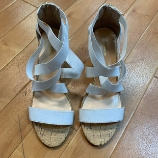 Primary Photo - BRAND: LIZ CLAIBORNE STYLE: SANDALS HIGH COLOR: WHITE SIZE: 8 OTHER INFO: CORK HEELS SKU: 178-178102-36811