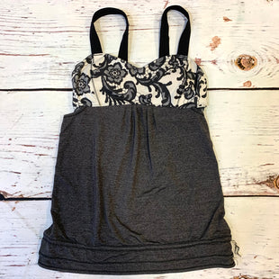 Primary Photo - BRAND: LULULEMON STYLE: ATHLETIC TANK TOP COLOR: GREY SIZE: 6 OTHER INFO: BLACK/WHITE/FLORAL SKU: 217-217196-433