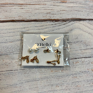 Primary Photo - BRAND:    CLOTHES MENTOR STYLE: EARRINGS COLOR: GOLD SIZE: 04 PIECE SET OTHER INFO: DBELLO - LOVE SKU: 217-217182-6471