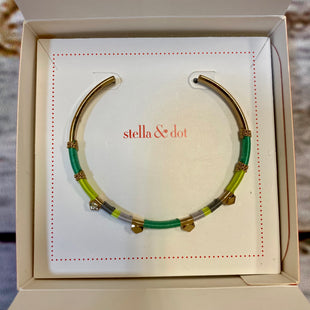 Primary Photo - BRAND: STELLA AND DOT STYLE: BRACELET COLOR: YELLOW OTHER INFO: TEAL GOLD BANGLE STUDS SKU: 217-217104-39408