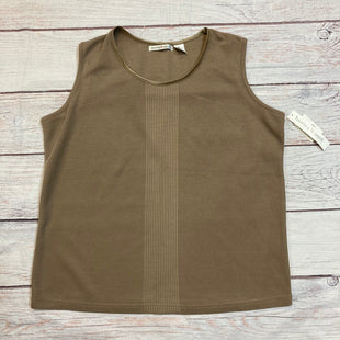 Primary Photo - BRAND: HASTING & SMITHSTYLE: TOP SLEEVELESS BASIC COLOR: TAN SIZE: 2X OTHER INFO: NEW! SKU: 217-217104-34418