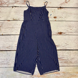Primary Photo - BRAND: OLD NAVY STYLE: DRESS SHORT SLEEVELESS COLOR: NAVY SIZE: XL OTHER INFO: NEW! JUMPSUIT WHITE STRIPED SKU: 217-217104-39339