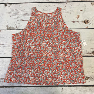 Primary Photo - BRAND: OLD NAVY STYLE: TOP SLEEVELESS COLOR: FLOWERED SIZE: XXL OTHER INFO: NEW!RED WHITE BLUE PEACH SKU: 217-217104-38256