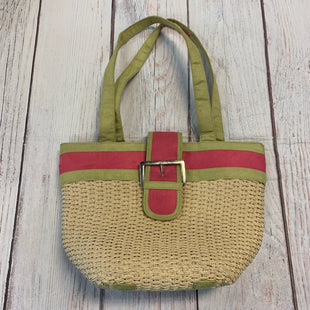Primary Photo - BRAND: NATURALIZER STYLE: HANDBAG COLOR: GREEN SIZE: MEDIUM OTHER INFO: WOVEN PINK/WHITE SKU: 217-217167-1387