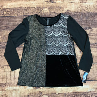 Primary Photo - BRAND: STYLE AND COMPANY STYLE: TOP LONG SLEEVE COLOR: BLACK SIZE: L OTHER INFO: NEW! SPARKLE SKU: 217-217104-33975