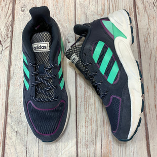 Primary Photo - BRAND: ADIDAS STYLE: SHOES ATHLETIC COLOR: NAVY SIZE: 6.5 SKU: 217-217182-10028