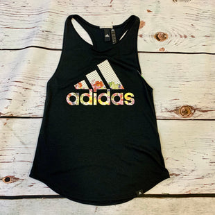 Primary Photo - BRAND: ADIDAS STYLE: ATHLETIC TANK TOP COLOR: BLACK SIZE: XS OTHER INFO: FLORAL LOGO SKU: 217-217104-38939