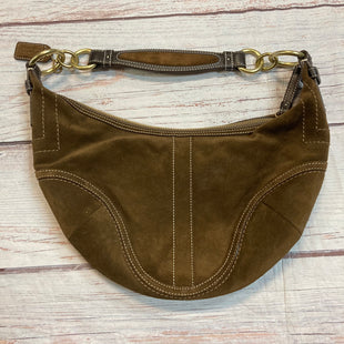 Primary Photo - BRAND: COACH STYLE: HANDBAG DESIGNER COLOR: BROWN SIZE: SMALL OTHER INFO: SUEDE SKU: 217-217144-9489