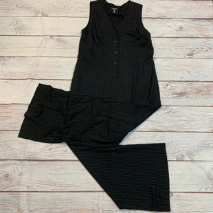 Primary Photo - BRAND: NINE WEST STYLE: DRESS LONG SLEEVELESS COLOR: BLACK SIZE: XL OTHER INFO: JUMPSUIT STRIPED WITH BELT SKU: 217-217104-35994
