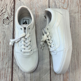 Primary Photo - BRAND: VANS STYLE: SHOES ATHLETIC COLOR: WHITE SIZE: 6.5 OTHER INFO: NWT! WAS $59.99 SKU: 217-217167-1825