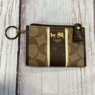 Primary Photo - BRAND: COACH STYLE: COIN PURSE COLOR: BROWN SIZE: SMALL OTHER INFO: ONOGRAM/STRIPE KEYCHAIN SKU: 217-217104-38547