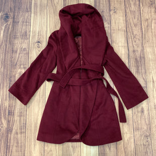 Primary Photo - BRAND: TAHARI STYLE: COAT LONG COLOR: BURGUNDY SIZE: L SKU: 217-217182-4919