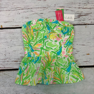 Primary Photo - BRAND: LILLY PULITZER STYLE: TOP SLEEVELESS COLOR: GREEN SIZE: XXS OTHER INFO: NEW! $98 SHANDY BLUE PINK YELLOW SKU: 217-217104-37500