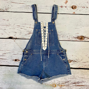 Primary Photo - BRAND: FOREVER 21 STYLE: DRESS SHORT SLEEVELESS COLOR: DENIM SIZE: S OTHER INFO: NEW! $27.90 OVERALLSSKU: 217-217182-9683