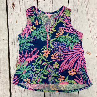 Primary Photo - BRAND: LILLY PULITZER STYLE: TOP SLEEVELESS COLOR: FLORAL SIZE: XL OTHER INFO: NAVY PINK GREEN ORANGE SKU: 217-217104-39879