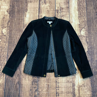 Primary Photo - BRAND: ISAAC MIZRAHI STYLE: JACKET LEATHER COLOR: BLACK SIZE: 2 SKU: 217-21717-13347