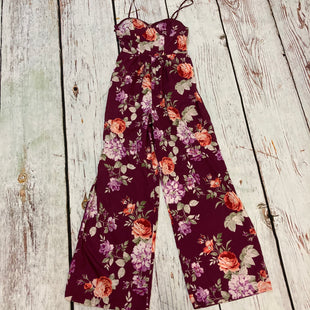 Primary Photo - BRAND: BAND OF GYPSIES STYLE: DRESS LONG SLEEVELESS COLOR: FLORAL SIZE: S OTHER INFO: JUMPSUIT PURPLE RED GREEN WHITE SKU: 217-217104-38157