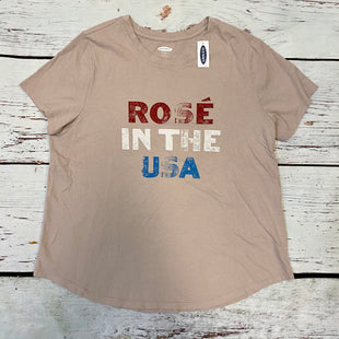 Primary Photo - BRAND: OLD NAVY STYLE: TOP SHORT SLEEVE BASIC COLOR: MAUVE SIZE: XL OTHER INFO: NEW! ROSE IN THE USA SKU: 178-178212-861