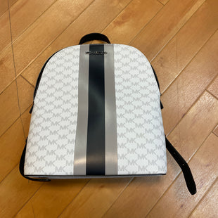 Primary Photo - BRAND: MICHAEL BY MICHAEL KORS STYLE: BACKPACK COLOR: MONOGRAM SIZE: MEDIUM OTHER INFO: WHITE BLACK GREY SKU: 217-217104-33465