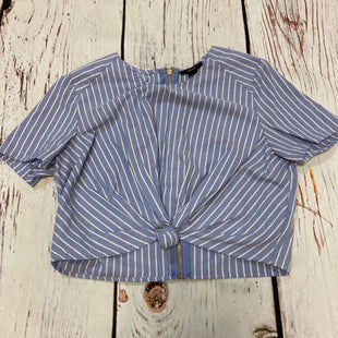 Primary Photo - BRAND: FOREVER 21 STYLE: TOP SHORT SLEEVE COLOR: BLUE WHITE SIZE: S SKU: 217-217182-9822
