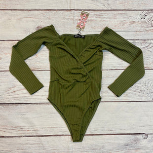 Primary Photo - BRAND: BOOHOO BOUTIQUE STYLE: TOP LONG SLEEVE COLOR: GREEN SIZE: XS OTHER INFO: NEW! RIBBED BODYSUIT SKU: 217-217155-4820