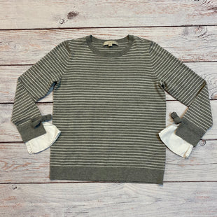 Primary Photo - BRAND: LOFT STYLE: SWEATER LIGHTWEIGHT COLOR: GREY WHITE SIZE: S SKU: 217-217182-5230