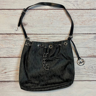 Primary Photo - BRAND: MICHAEL BY MICHAEL KORS STYLE: HANDBAG DESIGNER COLOR: BLACK SIZE: MEDIUM OTHER INFO: MONOGRAM SILVER CHAIN BUCKET BAG SKU: 217-217104-37396