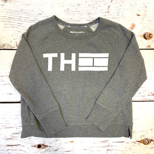 Primary Photo - BRAND: TOMMY HILFIGER STYLE: ATHLETIC TOP COLOR: GREY WHITE SIZE: L OTHER INFO: TH LOGO SKU: 217-217193-756