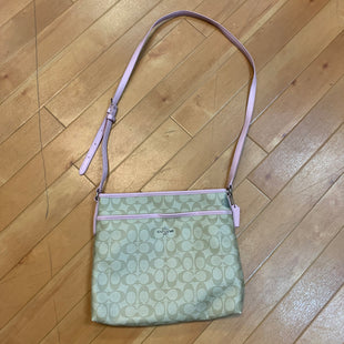Primary Photo - BRAND: COACH STYLE: HANDBAG DESIGNER COLOR: LIGHT PINK SIZE: MEDIUM OTHER INFO: CREAM MONOGRAM/ AS IS SKU: 217-217104-32928