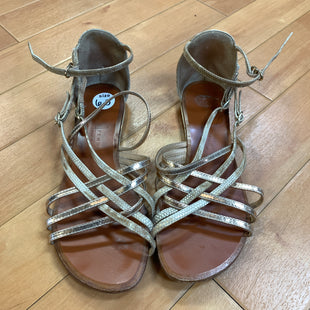 Primary Photo - BRAND:   LATITUDE FEMMESTYLE: SANDALS FLAT COLOR: GOLD SIZE: 6.5 OTHER INFO: LATITUDE FEMME - SKU: 217-217114-26259
