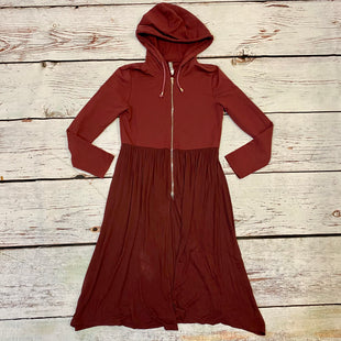 Primary Photo - BRAND: MONORENO STYLE: DRESS LONG LONG SLEEVE COLOR: BURGUNDY SIZE: S OTHER INFO: SWEATSHIRT DRESS SKU: 257-257194-1946