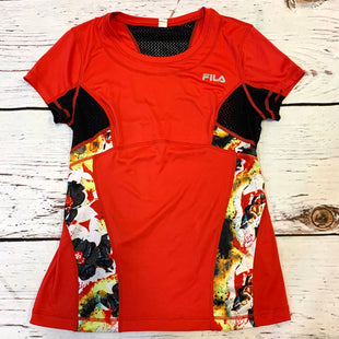 Primary Photo - BRAND: FILA STYLE: ATHLETIC TOP SHORT SLEEVE COLOR: RED SIZE: M OTHER INFO: FLOWER PANELS SKU: 217-217193-728